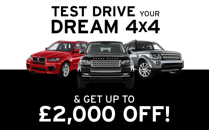 Main image for post: Still time to test drive a 4x4 at cartime Bury