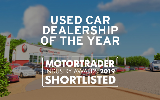 Main image for post: cartime shortlisted for Used Car Dealership of the Year