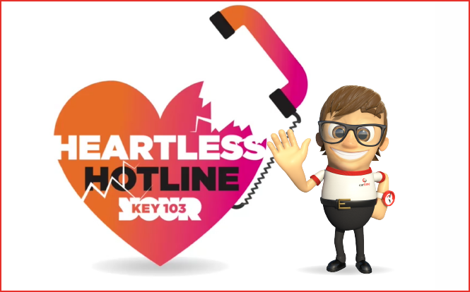 Main image for post: cartime Give Away a Car on Key 103's Heartless Hotline… But Did It Get Stolen?